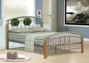 image is loading 3ft 4ft 4ft6 double or 5ft king size - Modern Metal Bed Frame