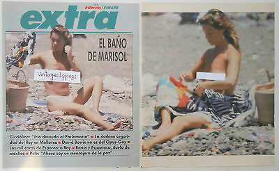 Marisol Pepa Flores 1987 4 Page Article Nude Topless Fotos Desnuda Clippings Ebay