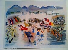 "RAOUL DUFY French LITHOGRAPH Aquarelle PRINT 1951 ""PARADE A TUCSON"" Arizona RARE"