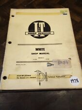 Iampt White Models 2 135 2 155 No W 2 Tractor Shop Manual