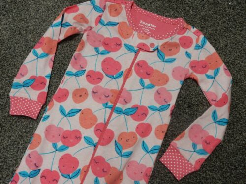 NWT 12-18M 18-24M 2T The Children/'s Place CHERRIES Stretchie Pajamas Sleeper