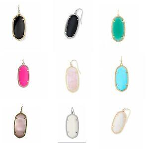 Kendra-Scott-039-Elle-039-Mismatched-SINGLE-Earrings-Drop-MOP-Pink-White-Turquoise