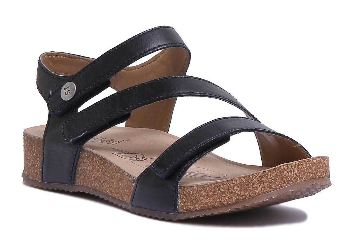 Josef Seibel Tonga 25 Womens Leather Matt Navy bluee Strappy Sandals Size 3 - 8