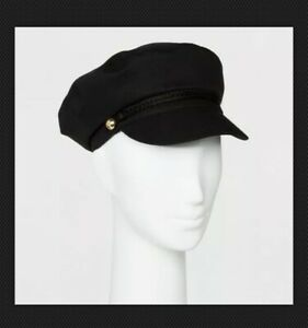 Womens-Newsboy-Hat-Mossimo-BLACK-NWT-a30
