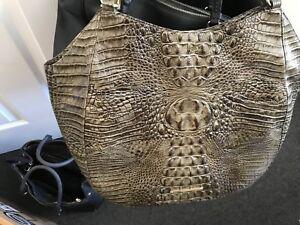 Image Is Loading Brahmin Handbags Extra Large Satchel Type Alligator Embossed