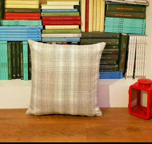 """Gris//Blanc Luxe Tartan Carreaux housses de coussin Shop 18/""""x18/""""//45x45cm"""