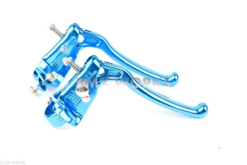 Dia-Compe MX128 Tech 6 Bright Blue Brake Levers Old Vintage School BMX Style