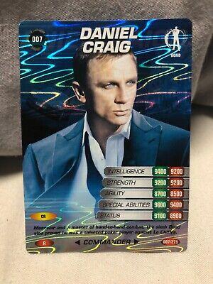 James Bond 007 Unopened Pack of 9 Commander Spy Trading Cards