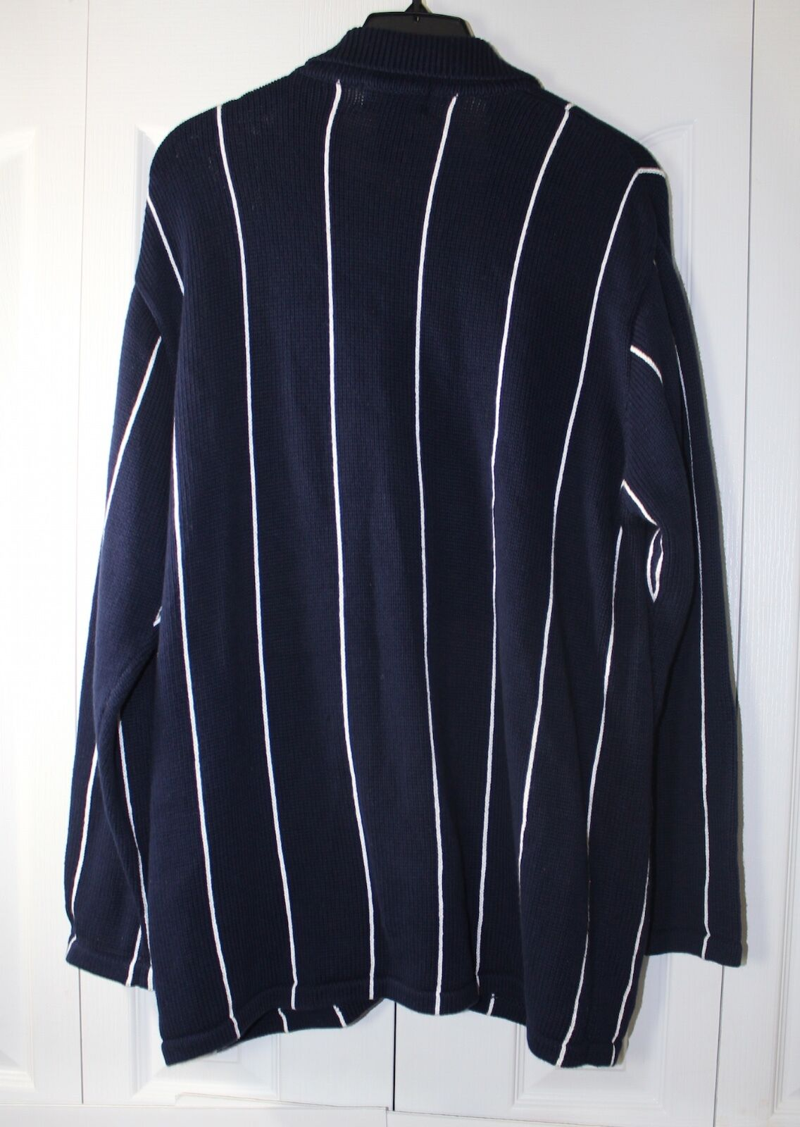 Lauren Ralph Lauren Women's Medium Button Down Sweater Sweater Sweater Country Club Navy NWT 90d439