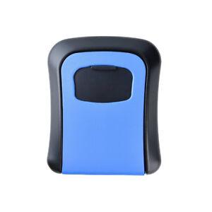 Heavy-Duty-Key-Lock-Box-Waterproof-Key-Storage-Security-Cash-Box-Blue