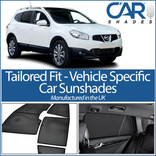 FITS UV CAR SHADE WINDOW SUN BLINDS PRIVACY GLASS TINT Nissan Qashqai+2 5dr 09