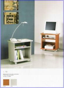 Terraneo mobile porta tv EL19 con piano arrotondato silver 56x37x56h cm Italy