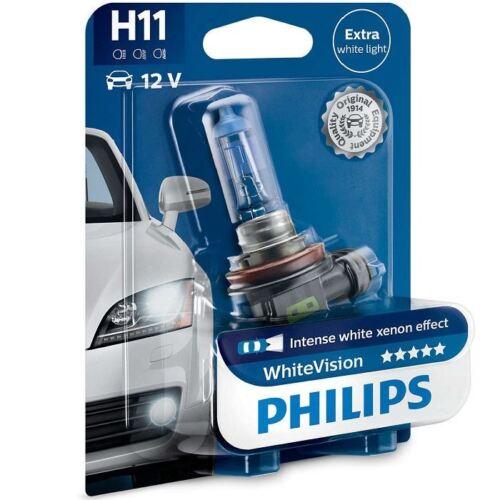 H11 PHILIPS 12 V 55 W PGJ19-2 WhiteVision jusqu/'à 60/% plus Vision ampoule de phare x1