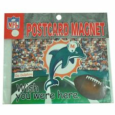 NFL Miami Dolphins Fins Magnetic You Wish You Were Here Postcard Gift DN 3072