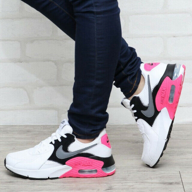 Nike Women's Air Max Excee White Grey Black Pink Casual ...