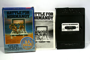 BATTLE-FOR-NORMANDY-SSI-COMMODORE-64-USED-GAME-TAPE-UK-VERSION-C64-FR1-67593