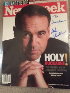 Mike Huckabee Signed Newsweek & Bumpersticker