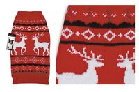 High Quality Winter Dog Sweater - Holiday Reindeer Style - Large Closeout