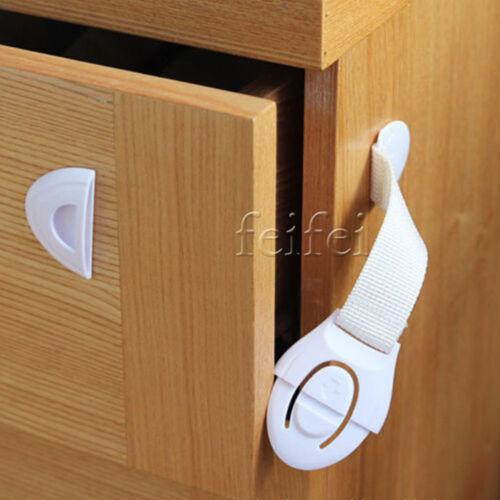 1-10Pcs BabyChild Pet Safety Safe Lock Fridge ToiletDrawer Cabinet Cupboard Door
