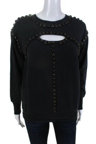 Isabel Marant Womens Studded Key Hole Long Sleeve