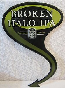 "Lot 5 /""Broken Halo IPA/"" Devilishly Bold Heavenly Smooth India Pale Ale Beer Sign"