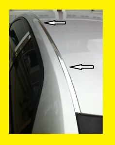 Details About For 2013 2018 Nissan Sentra Chrome Roof Top Channel Trim Molding Kit