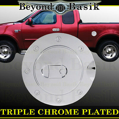 1997-2003 FORD F150 F-150 Triple ABS Chrome Fuel Gas Door Cover Cap Overlay Trim