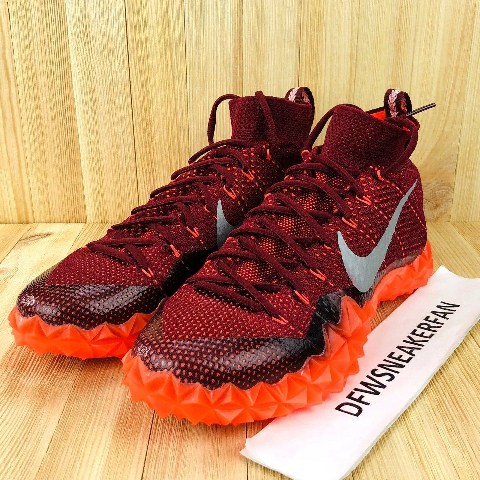 cheap for discount 87bd2 637ec Nike Alpha Sensory Turf Lax Lax Lax Men s Size 10.5 Crimson Football shoes  854312-806