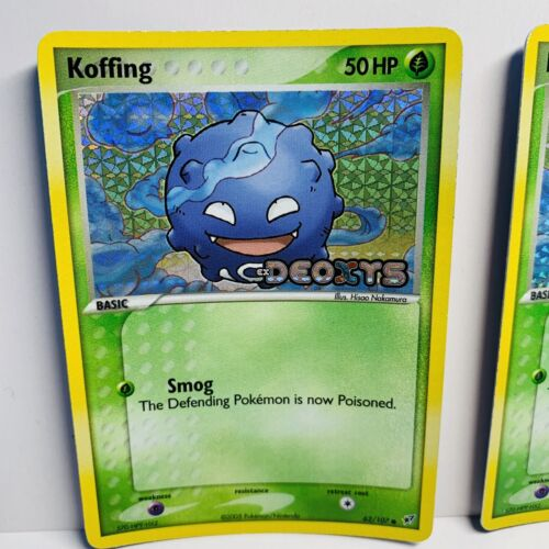 1x Koffing 62//107 Reverse Holo Stamped EX Deoxys Pokemon Card