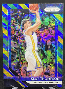 Klay-Thompson-2018-19-Prizm-Choice-Blue-Yellow-Green-Refractor-Warriors-242