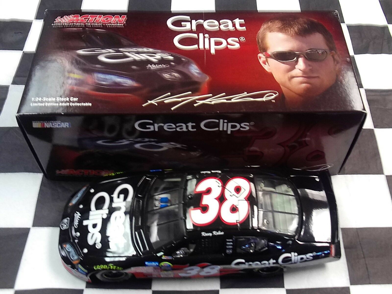 Kasey Kahne  38 Great Clips 2005 Charger 1:24 scale car NASCAR Action 109245 NIB