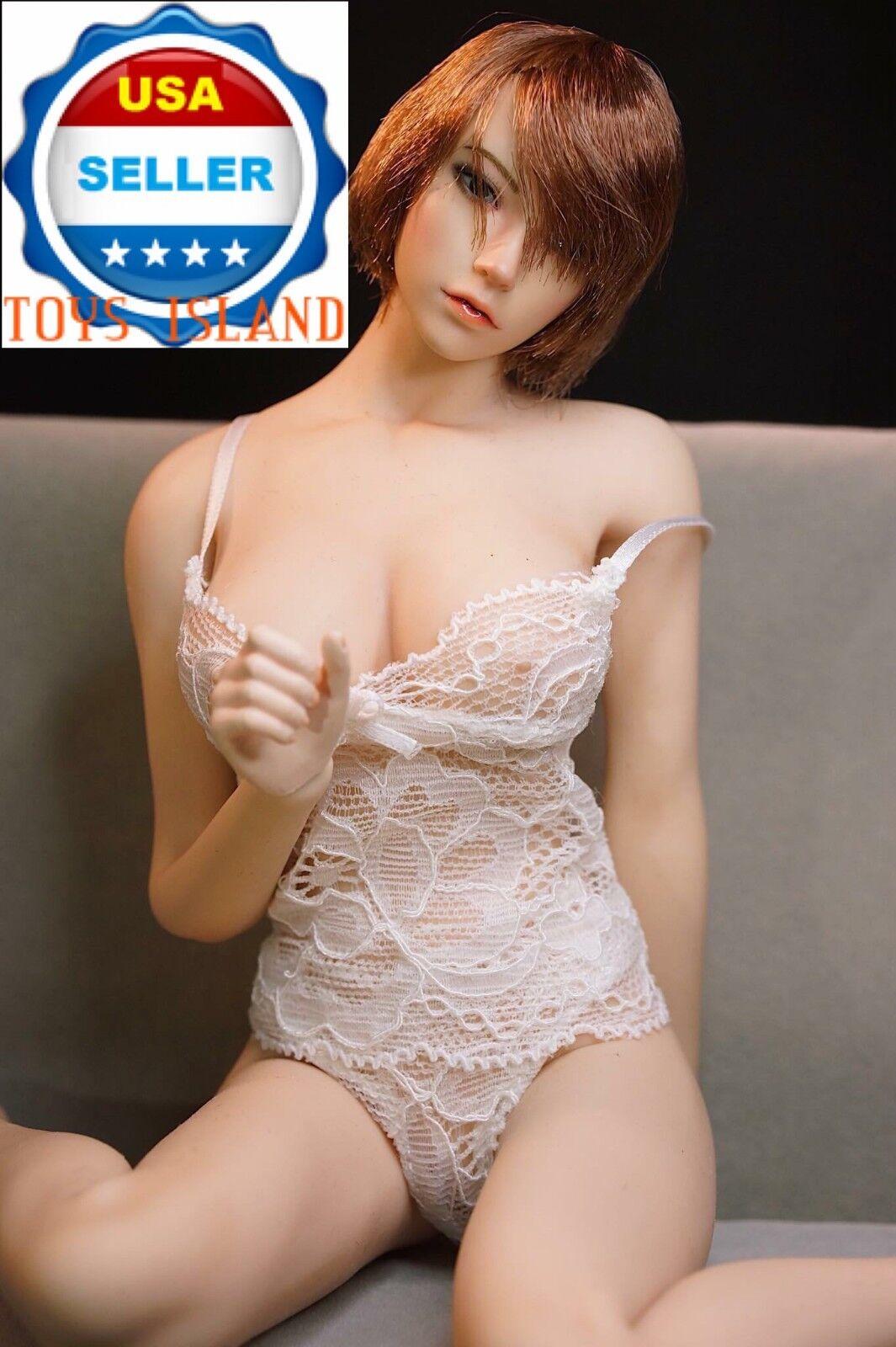 PHICEN 1 6 American Beauty Impecable Figura De Mujer Pelo Corto Muñeca Juego ❶ USA ❶