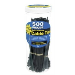 Gardner Bender 71111 4 in., 6 in., & 8 in. Assorted Nylon Cable Tie, Black