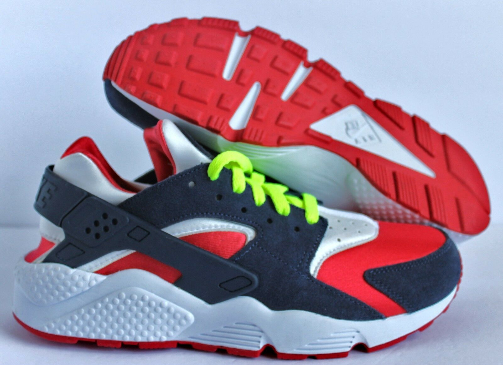 Nike homme Huarache Premium ID rouge-Navy-blanc SZ 9 chaussures  [777330-972]