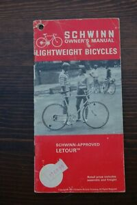 1973 Schwinn Lightweight Bicycles Letour Owner's Manual
