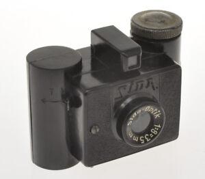 G-P-M-Sida-Italian-patent-rare-subminiature-camera-in-black-bakelite-exc