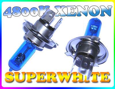 Intelligente Coppia 55 W H4 55/60w 4800k Superwhite Xenon Headlight Bulbs Per Renault- Eccellente (In) Qualità
