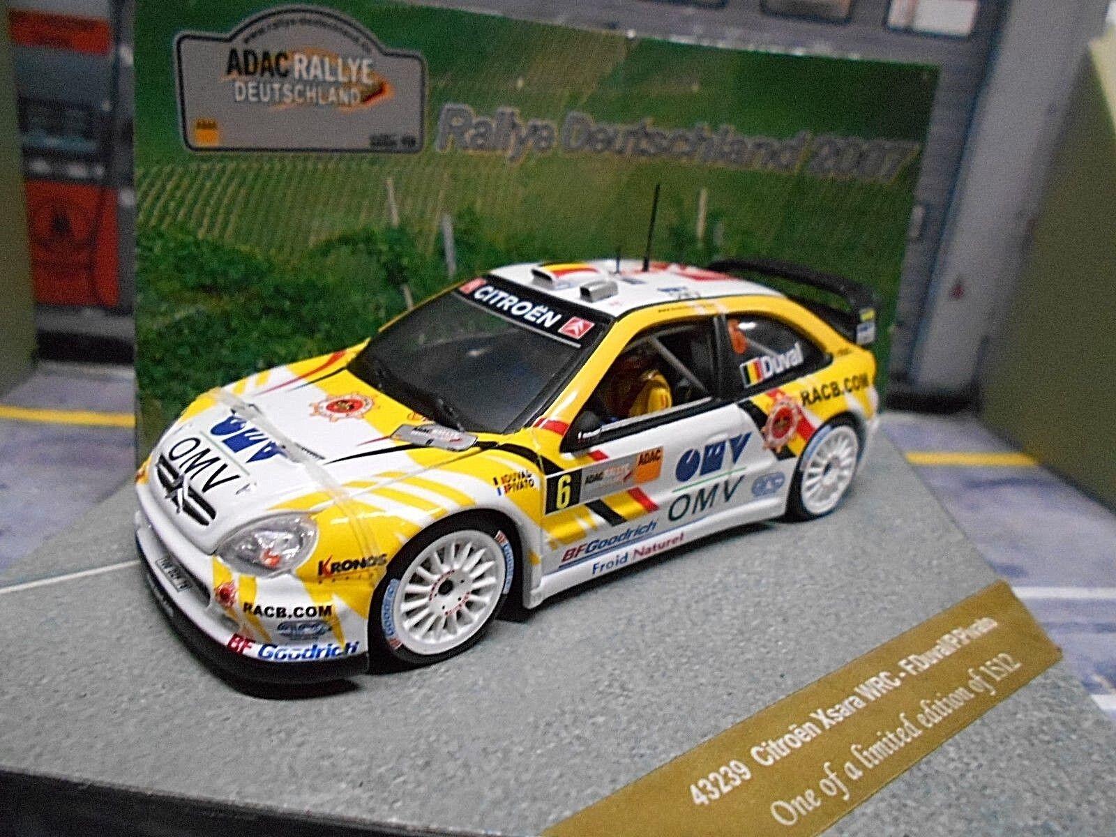 CITROEN XSARA WRC RALLYE ALLEMAGNE 2007  6 Duval OMV Race com VITESSE 1 43