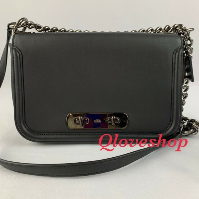 0fd43ef22 Coach 54640 Swagger 20 Glove Tanned Leather Shoulder Bag Black for ...