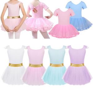 d8da4590aed7 Toddler Girls Ballet Dance Dress Kids Gymnastics Leotard Skirt ...
