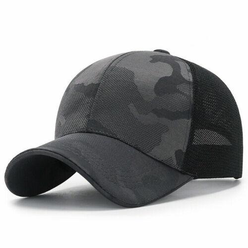 Men Baseball Cap Women Sports Hat Camouflage Mesh Visor Hats Adjustable