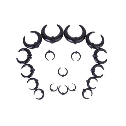 Men 9 Pairs Ear Stretching Kit 14G-00G Ear Gauges Expander Set Acrylic Plugs