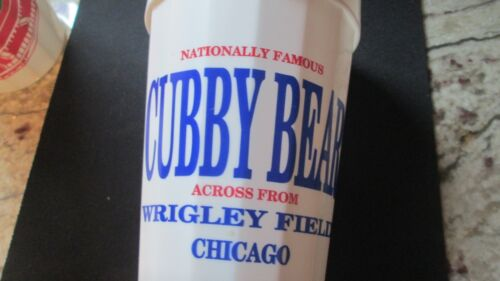 CHICAGO CUBS BASEBALL-CUBBY BEAR LOUNGE-IN WRIGLEYVILLE LOGO PLASTIC BEER CUP