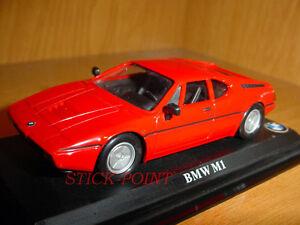 BMW-M1-M-1-RED-1-43-OFFICIAL-CAR-MINT