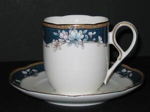 Noritake-Sandhurst-FLAT-COFFEE-CUP-SAUCER-SET-Bone-China-9742-Several-Available