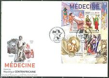CENTRAL AFRICA 2013  MEDICINE  SHEET FIRST DAY COVER