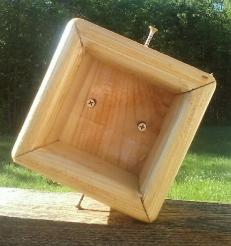 Ceder wood 4x4 post mount for bird feeders or bird house TBNUP #1S