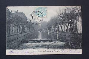 Tarjeta-Postal-Antigua-CPA-Postal-Nimes-Canal-de-La-Fuente