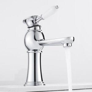 Détails sur Traditionnel européen style salle de bain lavabo robinets  simple levier chrome