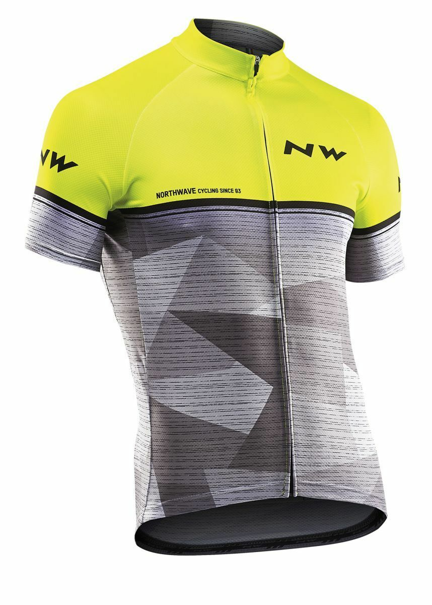 Northwave Origin Fahrrad Trikot kurz grey yellow 2019